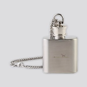 Orange English Setter on Chukar Flask Necklace