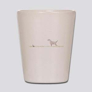 Orange English Setter on Chukar Shot Glass