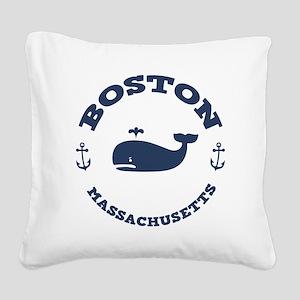 Boston Whale Excursions Square Canvas Pillow