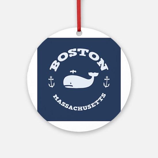 Boston Whale Excursions Ornament (Round)
