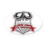 CCR_Logo_Transparent Oval Car Magnet