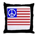 PeaceFlag Throw Pillow