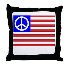 PeaceFlag Throw Pillow