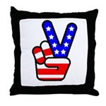 PeaceHand Throw Pillow