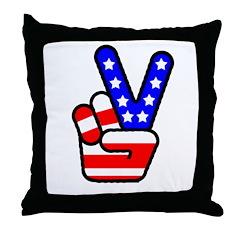 PeaceHand Throw Pillow