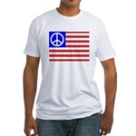 PeaceFlag Fitted T-Shirt