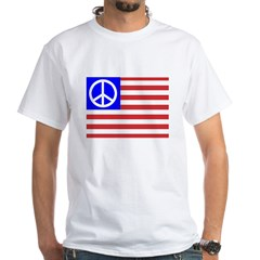 PeaceFlag White T-Shirt