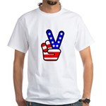 PeaceHand White T-Shirt