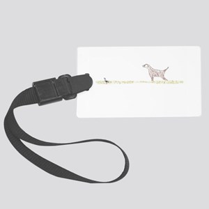 Orange English Setter on Chukar Large Luggage Tag