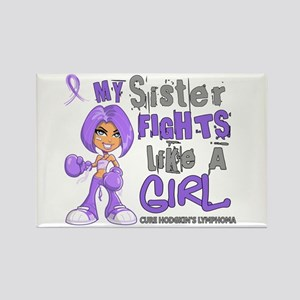Fights Like a Girl 42.9 H Lymphoma Rectangle Magne