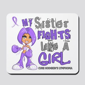Fights Like a Girl 42.9 H Lymphoma Mousepad