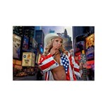 Naked Cowgirl of Times Square Rectangle Magnet