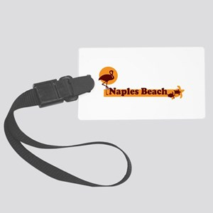 Naples Beach - Beach Design. Large Luggage Tag