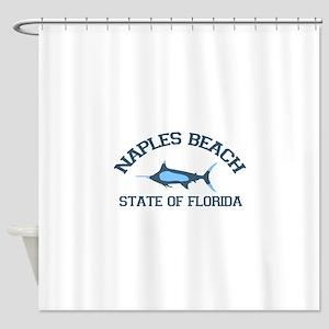 Naples Beach - Fishing Design. Shower Curtain