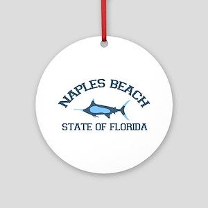 Naples Beach - Fishing Design. Ornament (Round)