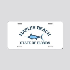 Naples Beach - Fishing Design. Aluminum License Pl