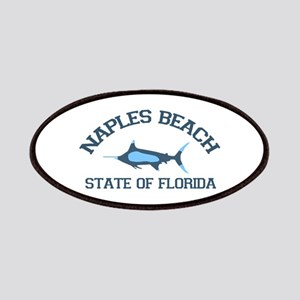 Naples Beach - Fishing Design. Patches