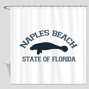 Naples Beach - Manatee Design. Shower Curtain