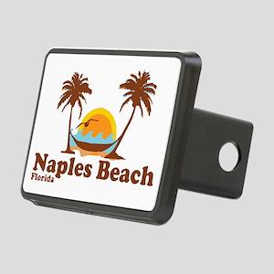 Naples Beach - Palm Trees Design. Rectangular Hitc