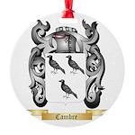 Cambre Round Ornament