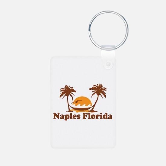 Naples FL - Palm Trees Design. Keychains