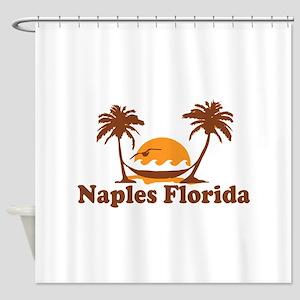 Naples FL - Palm Trees Design. Shower Curtain