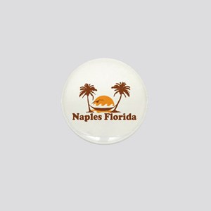 Naples FL - Palm Trees Design. Mini Button