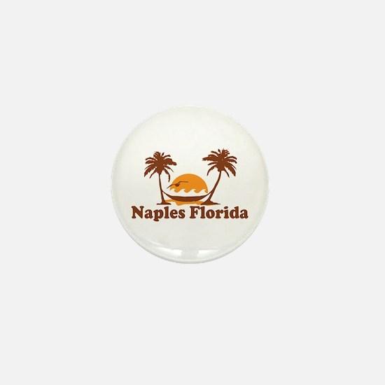 Naples FL - Palm Trees Design. Mini Button