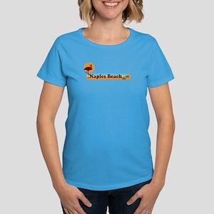 Naples Beach - Beach Design. Women's Dark T-Shirt