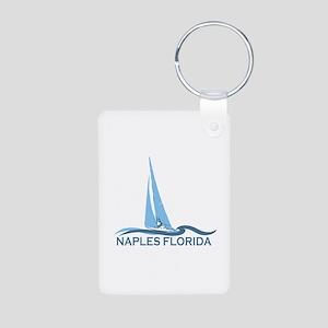 Naples Beach - Sailing Design. Aluminum Photo Keyc