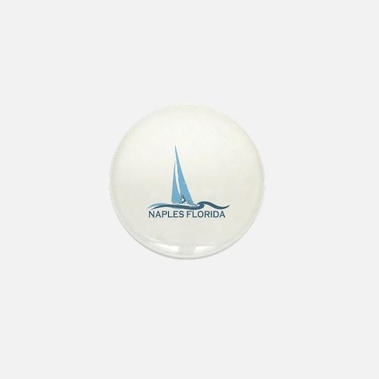 Naples Beach - Sailing Design. Mini Button