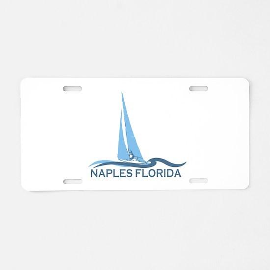 Naples Beach - Sailing Design. Aluminum License Pl
