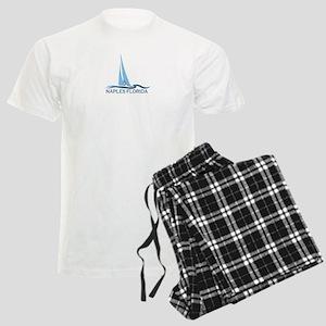 Naples Beach - Sailing Design. Men's Light Pajamas
