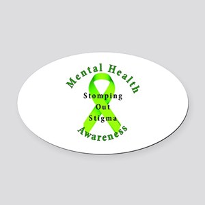 Stomping Out Stigma Oval Car Magnet