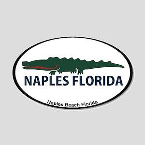 Naples Fl - Alligator Design. 20x12 Oval Wall Deca