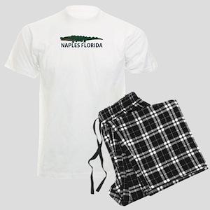 Naples Fl - Alligator Design. Men's Light Pajamas