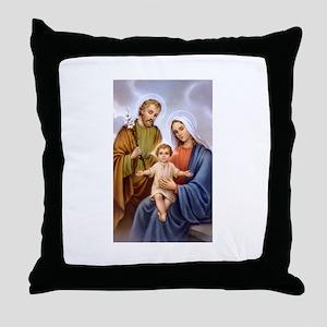 Jesus, Mary and Joseph Throw Pillow