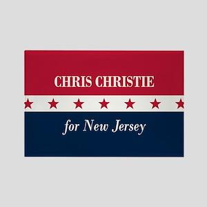 Chris Christie for NJ Rectangle Magnet