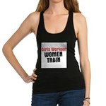 girls-workout-women-train Racerback Tank Top