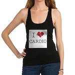 I-HEART-HATE-CARDIO Racerback Tank Top