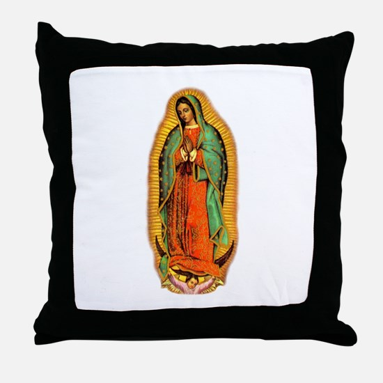 Virgen de Guadalupe Throw Pillow