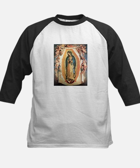 Our Lady Guadalupe with Angel Kids Baseball Jersey