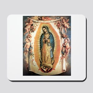 Our Lady Guadalupe with Angel Mousepad