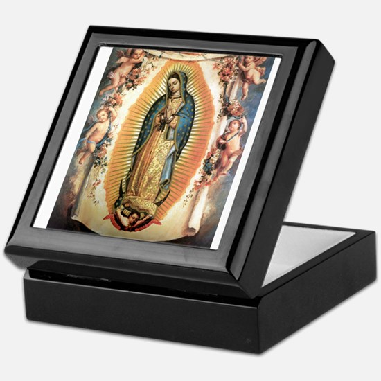 Our Lady Guadalupe with Angel Keepsake Box