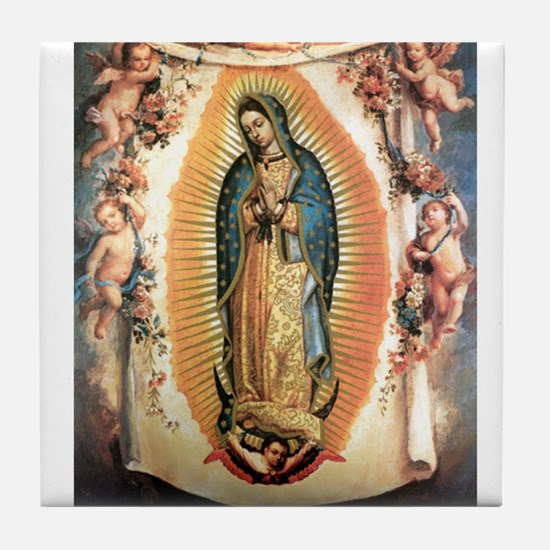 Our Lady Guadalupe with Angel Tile Coaster