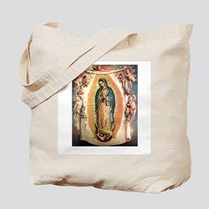 Our Lady Guadalupe with Angel Tote Bag