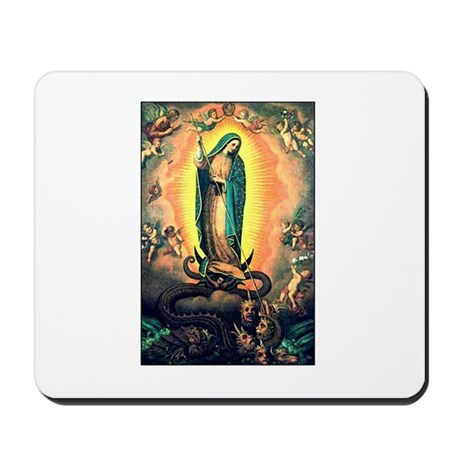 Our Lady Guadalupe Defending Mousepad