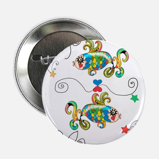 "Pisces Horoscope Zodiac Symbol 2.25"" Button"