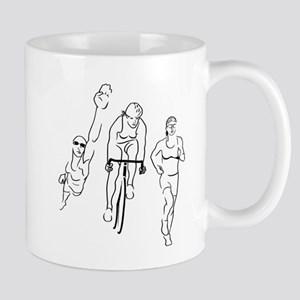 Triathlon Woman Mug