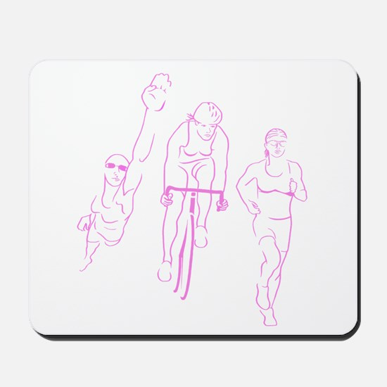 Triathlon Woman Mousepad